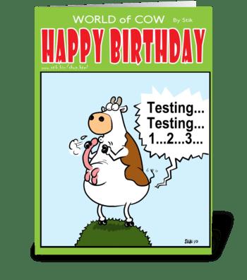 Testing...Testing 123 BD card greeting card