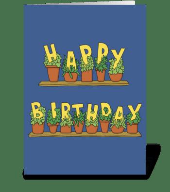 Happy Birthday Plants greeting card