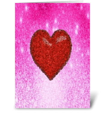 pink and red heart card greeting card