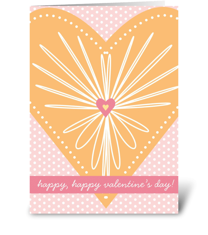 Heart Burst greeting card