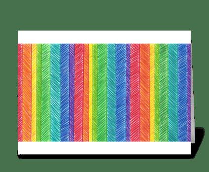 CRAYON COLORS greeting card