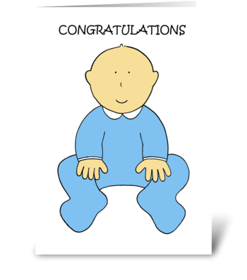 New Baby Boy Congratulations. greeting card