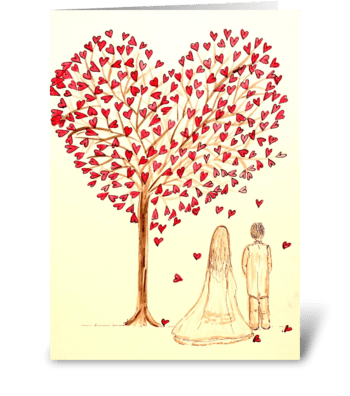 Showered with Love greeting card