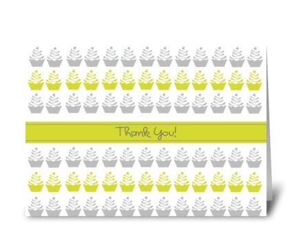 Thank You Cupcake greeting card