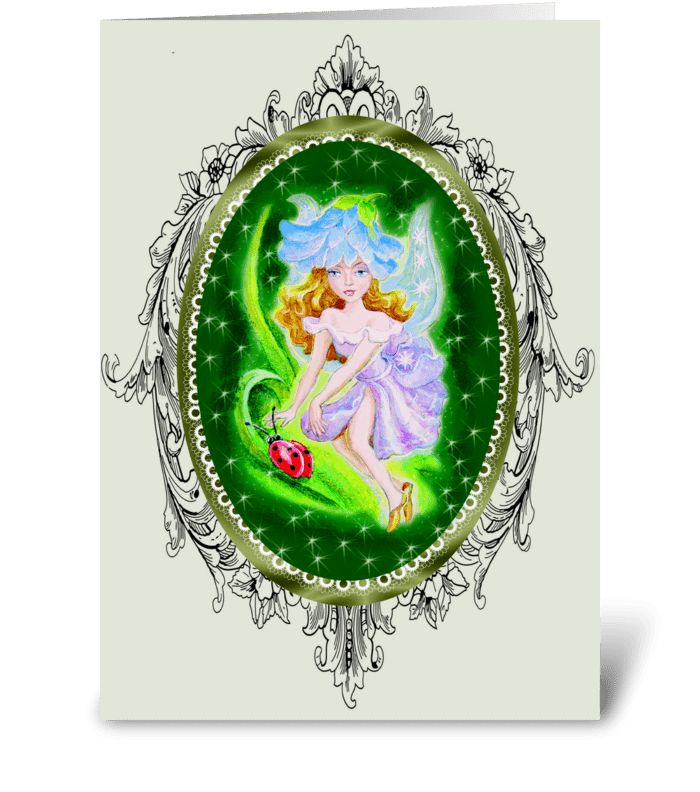 Fairies in the Garden greeting card