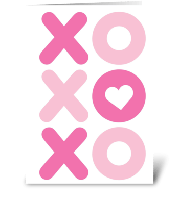 XO XO XO greeting card