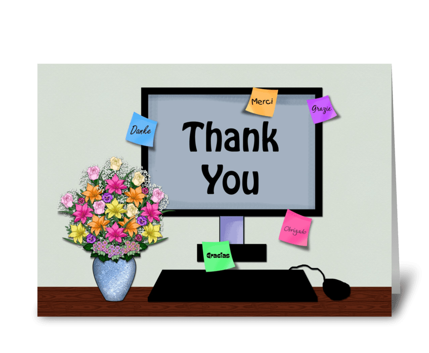 Thank You Foreign Language, Administrati greeting card