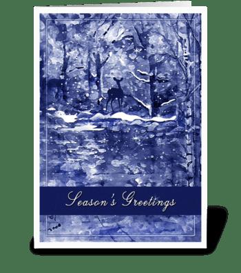 Snowy Woods, Season's Greetings greeting card