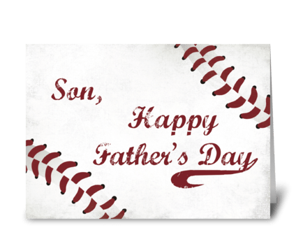 Son Father's Day Large Grunge Baseball,  greeting card