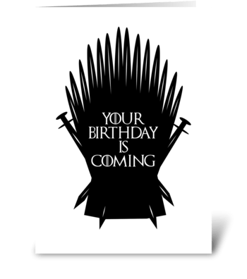 Game of birthdays greeting card