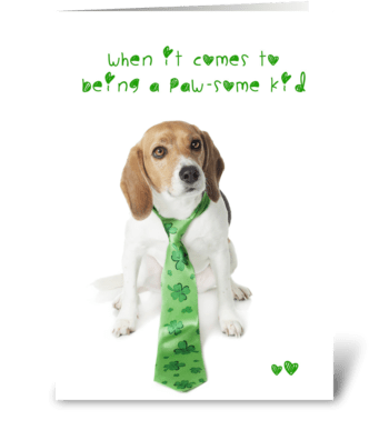 You Shamrock Dog greeting card