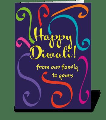 63 Diwali Family Card greeting card