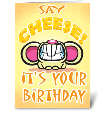 CHEESIE Birthday card greeting card