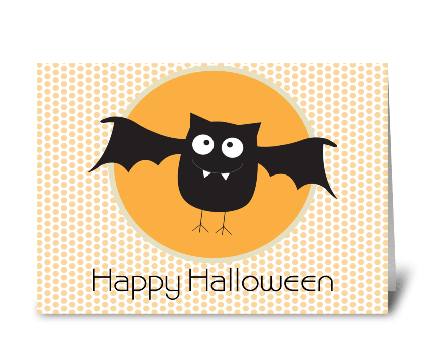 Happy Halloween Bat greeting card