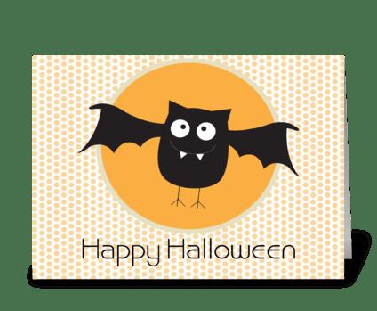 Happy Halloween Bat greeting card