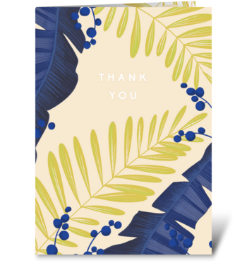 Tropics greeting card