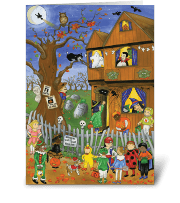Halloween Trick or Treat greeting card