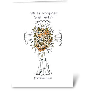 With Deepest Sympathy For Your Loss greeting card