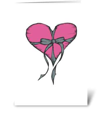 Pink Precious Present greeting card