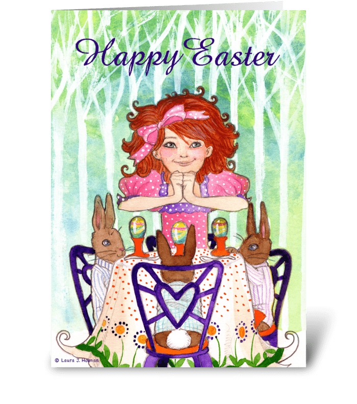Happy Easter Rabbit Brunch greeting card