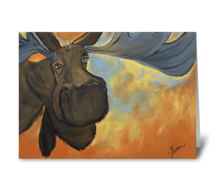 Mooseying Along greeting card