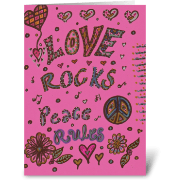 Love Rocks! greeting card