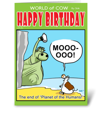 Planet of the Humans Birthday card greeting card