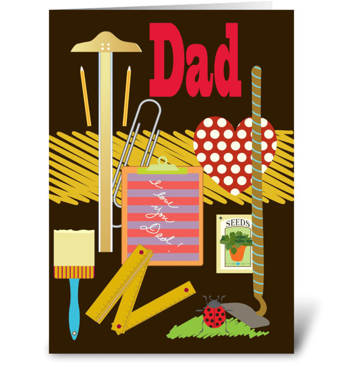 Dad's Favorite Tools  greeting card