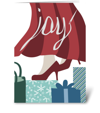 Thread Some Joy - Fashion Holidays greeting card