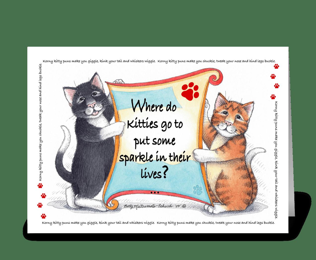 Kitty Puns Happy Birthday 63A