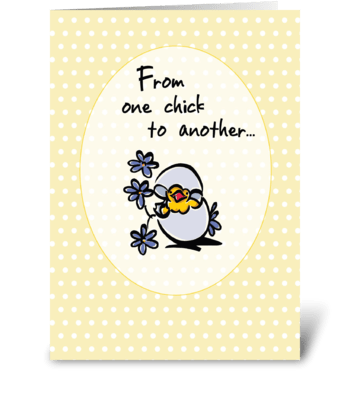 One Chick Easter   greeting card