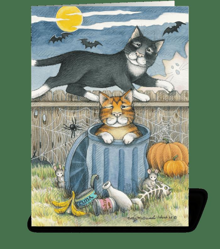 Happy Halloween Cats #33 greeting card