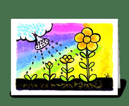 Happy Birthday Grow greeting card