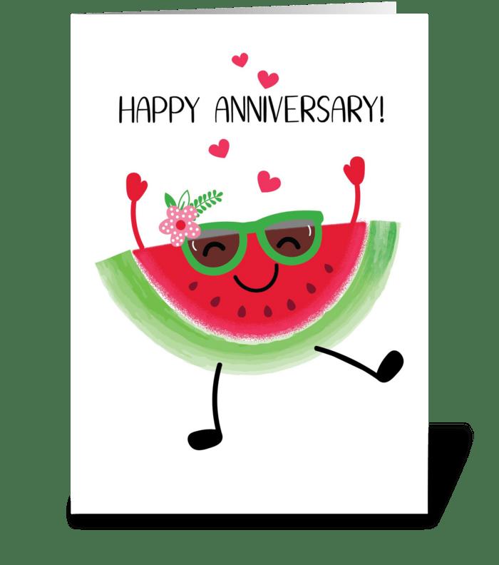 Watermelon Anniversary greeting card
