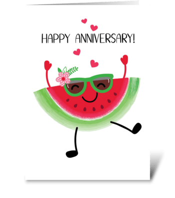 Watermelon Anniversary greeting card