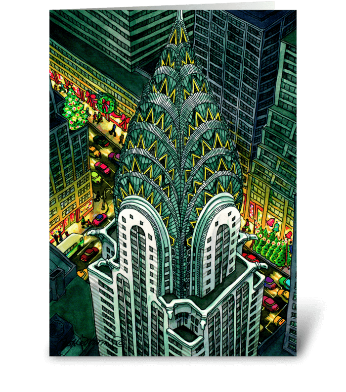 Chrysler Building by Roxie Munro greeting card