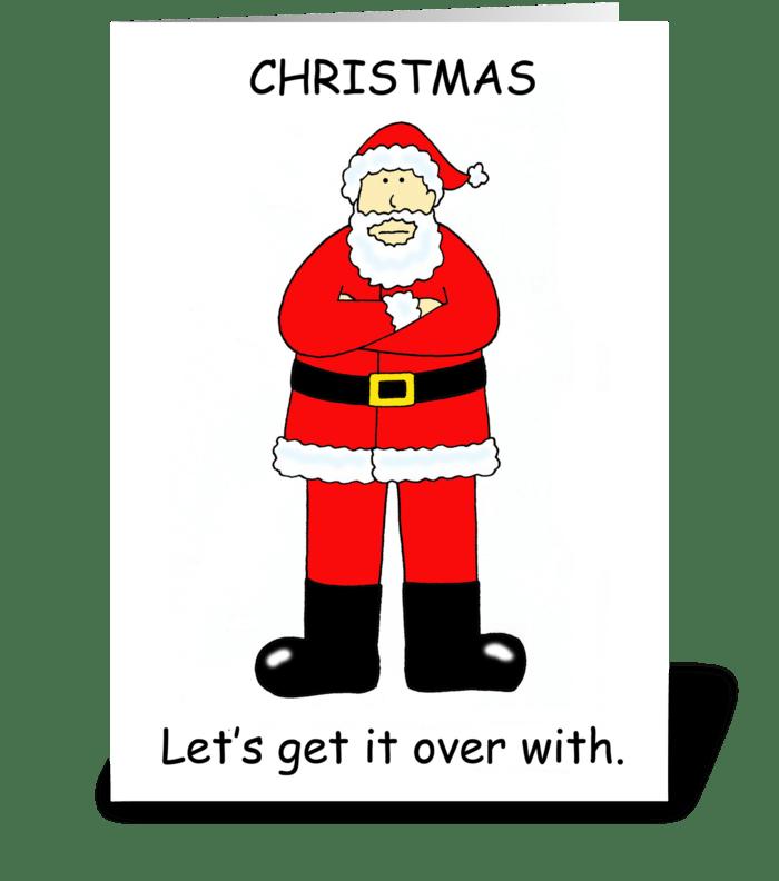 Christmas Bah Humbug Cartoon. greeting card