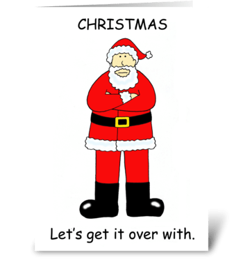 Christmas Bah Humbug Cartoon. greeting card