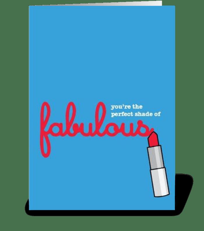 Fabulous greeting card