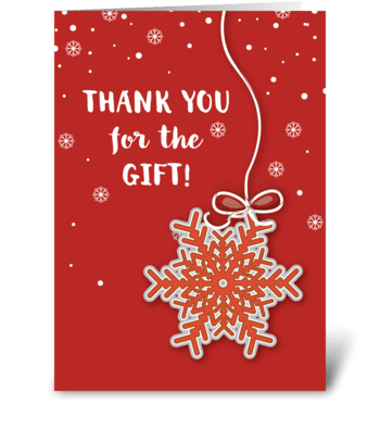 Thank You For Christmas Gift Scarlet Red greeting card