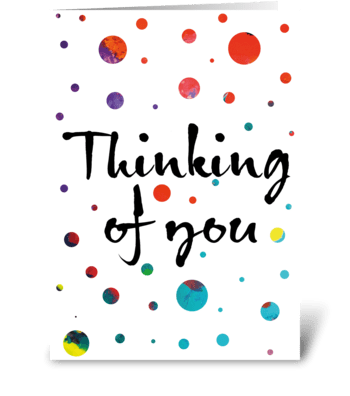 Thinking of You/Sympathy Card greeting card