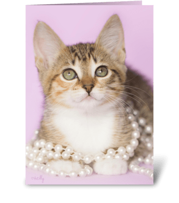 You're Purr-fect Kitten greeting card