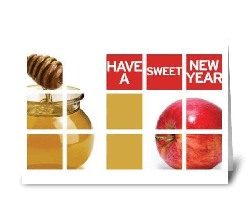 Have a Sweet New Year greeting card