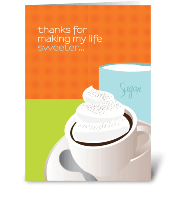 Sweet thanks greeting card