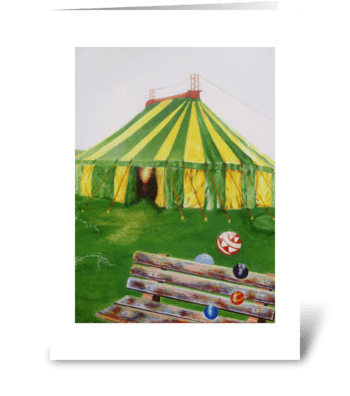 A Seat at the Circus greeting card
