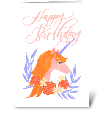 Happy Birthday Unicorn greeting card