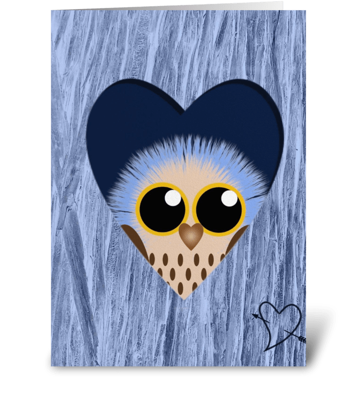 Blue Owl  greeting card