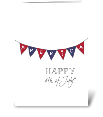 Fourth of July - Bunting greeting card