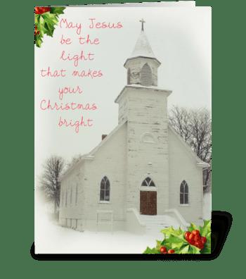 Inspirational Christmas greeting card