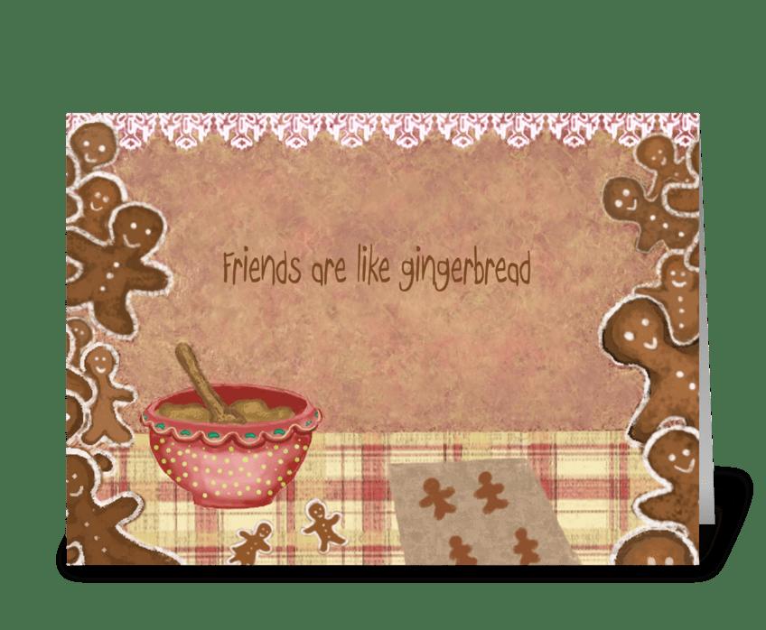 Friendship is sweet greeting card
